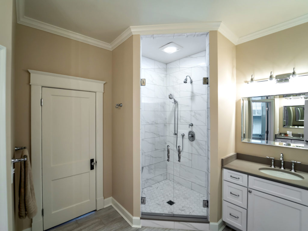 modern bathroom tile shower