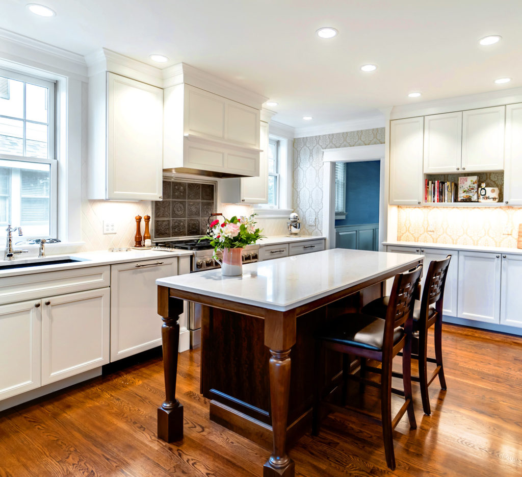 traditional white kitchen island