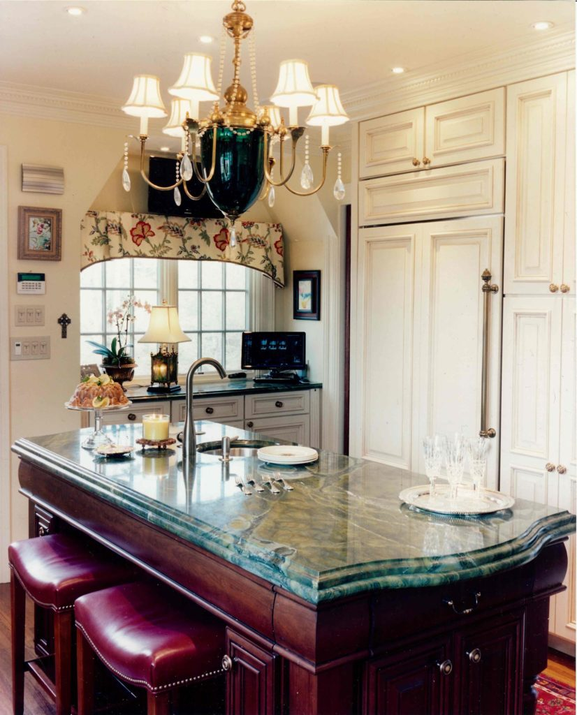 traditional granite kitchen island