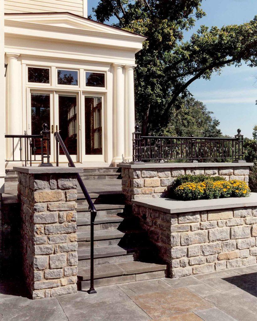 backyard stone staircase